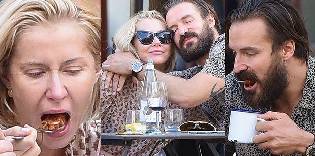 Miłość Katarzyny Warnke i Piotra Stramowskiego kwitnie w restauracji (ZDJĘCIA)