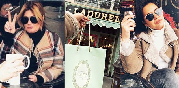 Beata Kozidrak dokazuje z córką w Paryżu. Winko, zakupy i Moulin Rouge...