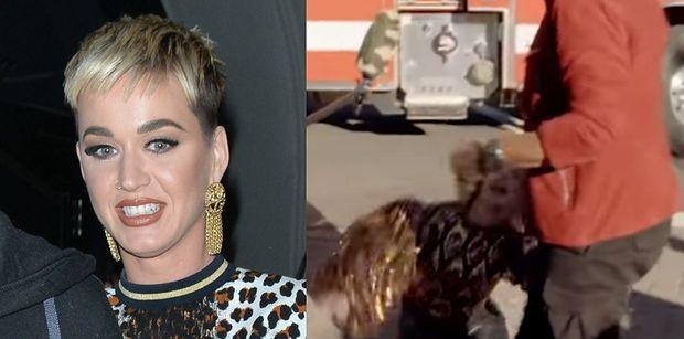 """Katy Perry ZEMDLAŁA podczas ewakuacji z planu """"Idola""""!"""