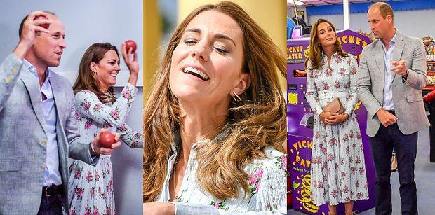 Szykowni książę William i Kate Middleton dają się porwać słodkiemu szaleństwu podczas wizyty w salonie gier (ZDJĘCIA)
