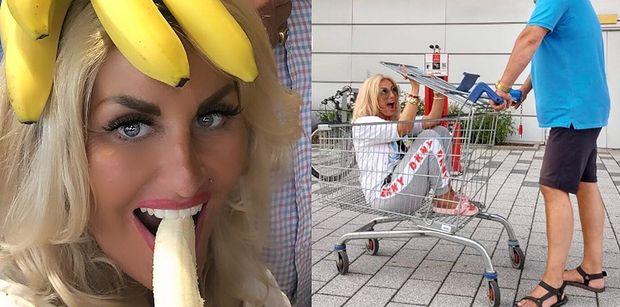 """Dagmara Kaźmierska krytykowana za szaleństwa w wózku sklepowym: """"To dewastacja czyjegoś mienia"""" (FOTO)"""