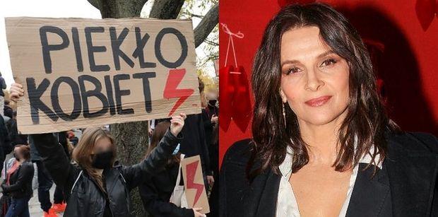 Juliette Binoche wspiera Strajk Kobiet w Polsce