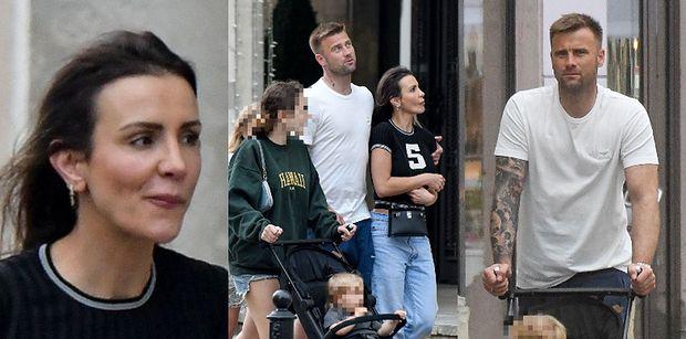 Rodzinni Sara i Artur Borucowie drepczą po ulicach Warszawy wraz z dziećmi (ZDJĘCIA)