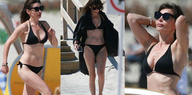 Gibka Agnieszka Dygant łapie promienie słońca, radośnie hasając po plaży w Juracie (ZDJĘCIA)