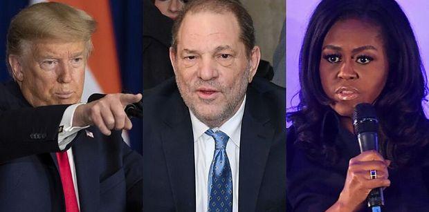 """Donald Trump odcina się od Harveya Weinsteina i atakuje: """"Michelle Obama go UWIELBIAŁA"""""""