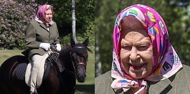 94-letnia królowa Elżbieta delektuje się przejażdżką na 14-letnim kucu (ZDJĘCIA)