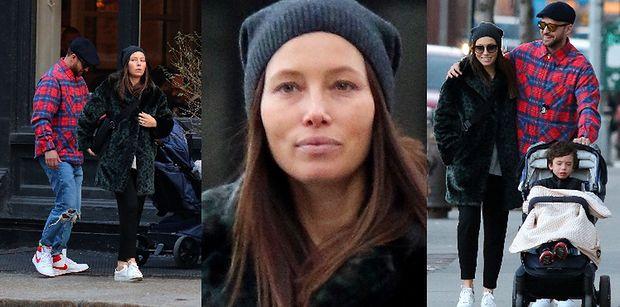 Justin Timberlake i Jessica Biel na rodzinnym spacerze z 4-letnim synkiem. Aktorka puściła w niepamięć zdradę męża? (ZDJĘCIA)