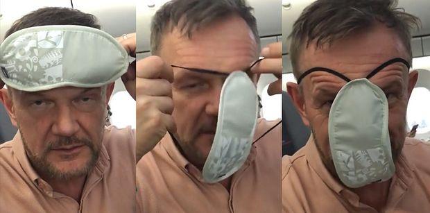 """Cezary Pazura robi sobie ŻARTY z... koronawirusa: """"Zwykła maseczka, taka na oczy. Wystarczy ją założyć i jesteś bezpieczny"""""""