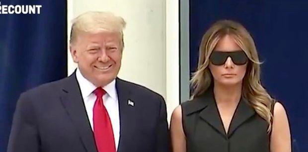 Donald Trump poprosił Melanię, by uśmiechnęła się do zdjęcia. Nie udało się... (WIDEO)