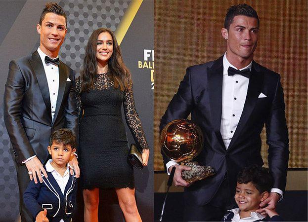 Ronaldo odbiera Złotą Piłkę! Z synem! (ZDJĘCIA)