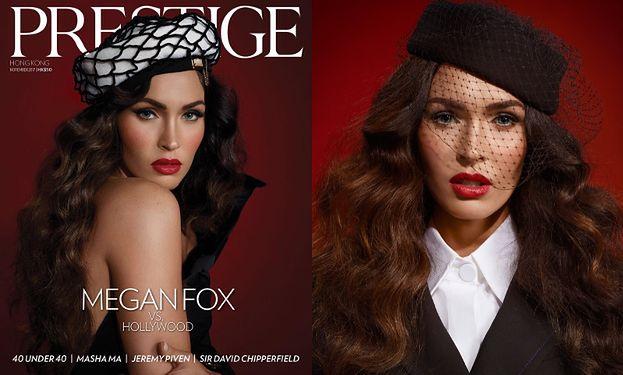 Wygładzona Megan Fox na nowej okładce