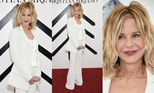 56-letnia Meg Ryan w bieli na tygodniu mody