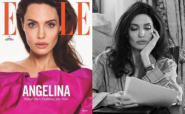 """Angelina-aktywistka promuje się na okładce """"Elle"""""""