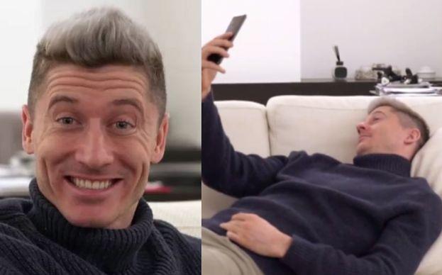 """Lewandowski uczy, jak zrobić """"idealne selfie"""". """"Robisz z siebie pajaca"""""""