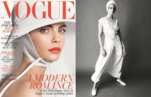"""Cara Delevingne cała na biało w sesji dla """"Vogue'a"""""""