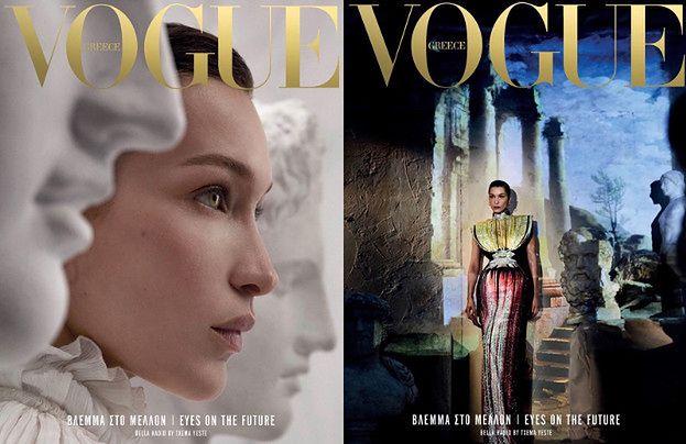 "Bella Hadid prezentuje szlachetny profil na okładce ""Vogue'a"""