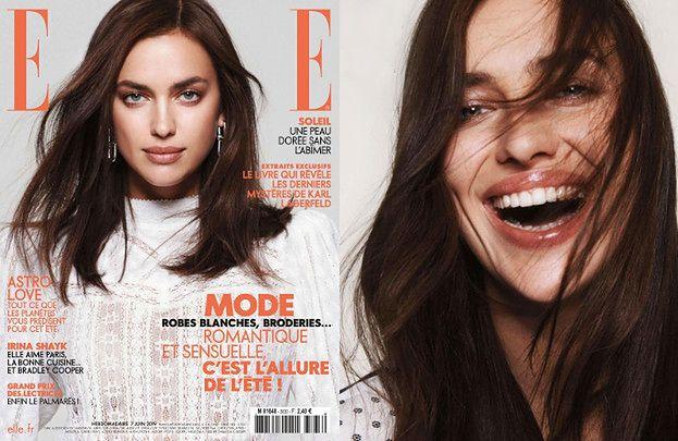 """Pogodna Irina Shayk czaruje uśmiechem w sesji dla francuskiego """"Elle"""""""