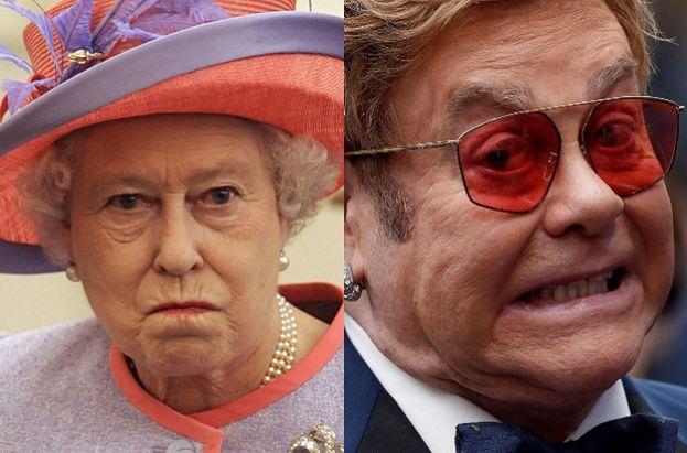 Królowa Elżbieta UDERZYŁA W TWARZ bratanka na oczach Eltona Johna!