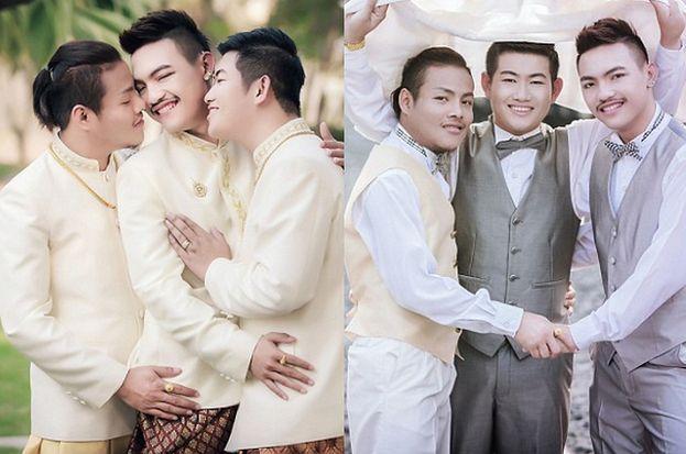 Trzech Gejów Z Tajlandii Wzięło ślub Zdjęcia Pudelek