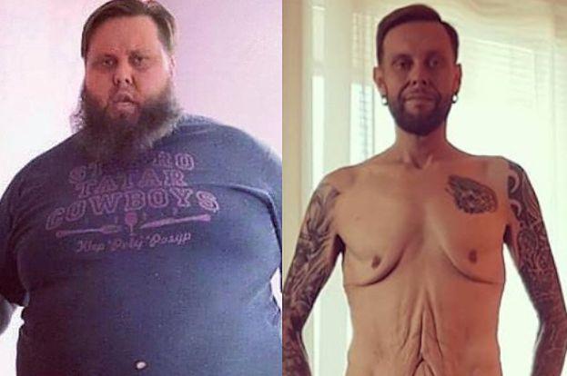 """Mateusz Borkowski z """"Gogglebox"""" pozuje BEZ UBRAŃ po zrzuceniu 140 kilogramów: """"Love Haters"""" (FOTO)"""
