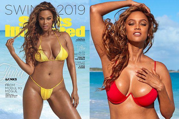 """45-letnia Tyra Banks trafiła na okładkę """"Sports Illustrated Swimsuit Issue""""!"""