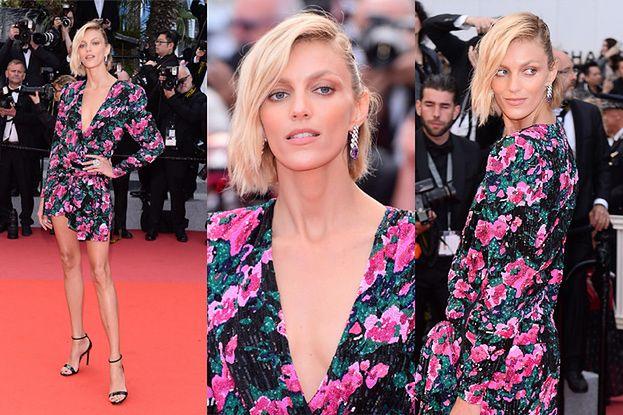 Anja Rubik gra nogą na czerwonym dywanie w Cannes