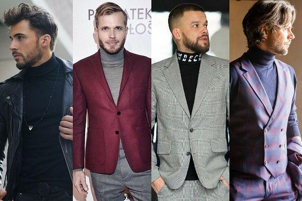 Z czym celebryci noszą golfy męskie?