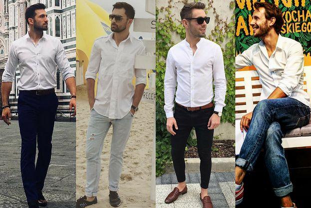 Biała koszula nie tylko do garnituru - z czym noszą je celebryci?