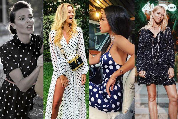 Stylowa sukienka w grochy na lato - 5 inspiracji