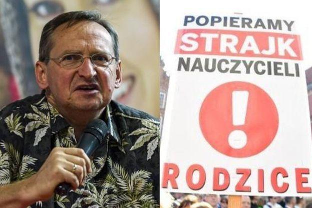 """Strajk nauczycieli. Wojciech Cejrowski: """"ZNP to KUŹNIA KOMUNISTYCZNYCH TREPÓW! Trzeba 300 tys. ludzi usunąć, zostawić 10 procent"""""""