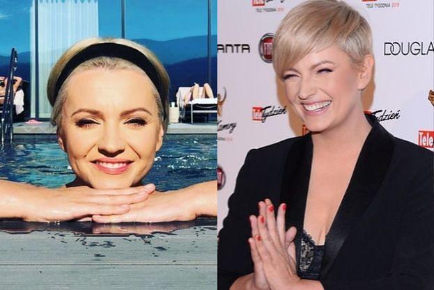 Dorota Szelągowska w pełnym makijażu wyłania się z basenu na Instagramie. Fani porównują ją do... Marilyn Monroe (FOTO)