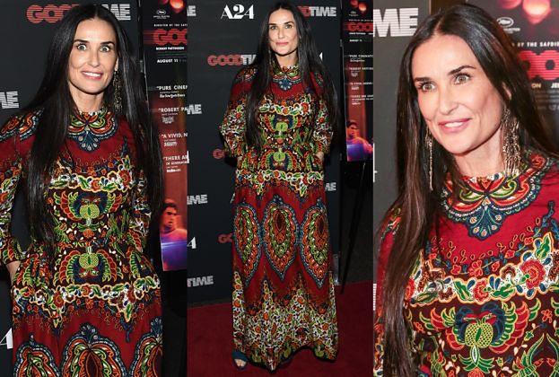 Demi Moore w etnicznej sukience