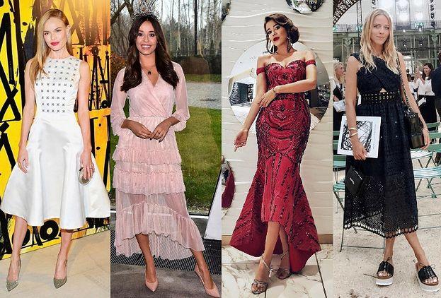 61e6c985ef Najpiękniejsze sukienki midi w stylizacjach celebrytek - PUDELEK