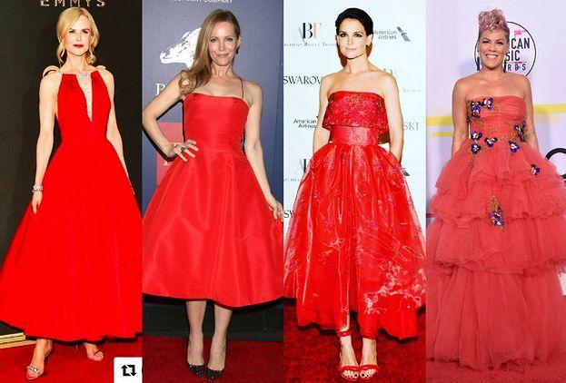 29cda56a86 Czerwona rozkloszowana sukienka to hit na ściankach - PUDELEK
