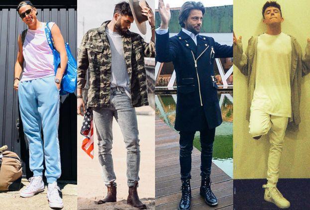 Buty męskie za kostkę w stylizacjach gwiazd