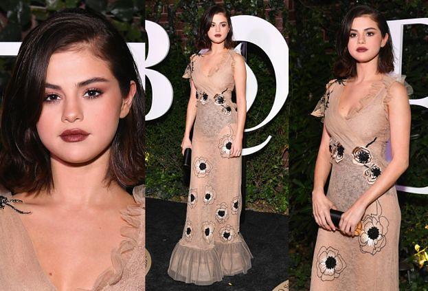 Selena Gomez w prześwitującej sukni za 80 tysięcy