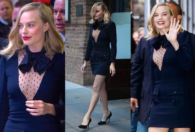Margot Robbie odsłania nogi w Nowym Jorku