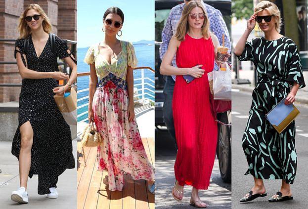 Gwiazdy noszą letnie sukienki maxi