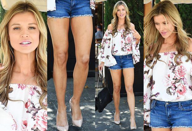 #TRENDY: Joanna Krupa w dżinsowych szortach