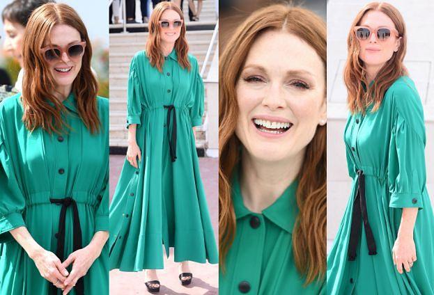 Julianne Moore w morskiej sukience w Cannes