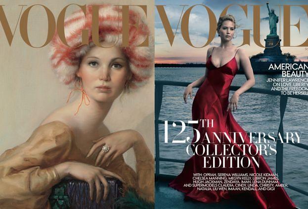 """Jennifer Lawrence na CZTERECH okładkach wrześniowego """"Vogue'a"""""""