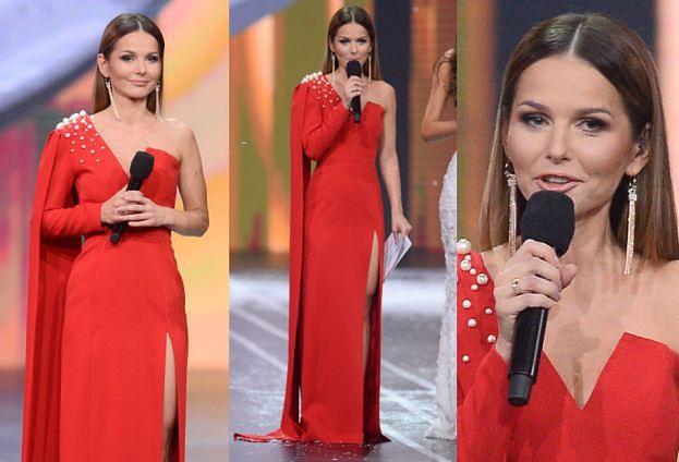 Elegancka Paulina Sykut przymierza koronę