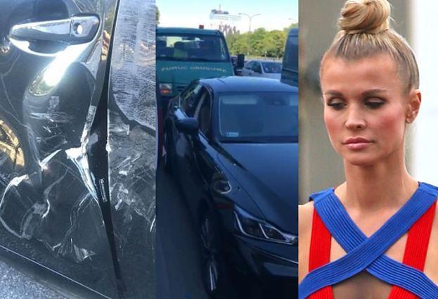 """TYLKO U NAS: TIR skasował auto Krupy! """"Mogło skończyć się tragicznie"""""""