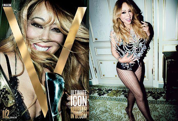 Wygładzona Mariah Carey śmieje się do buta