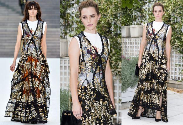 Emma Watson w sukni prosto z wybiegu