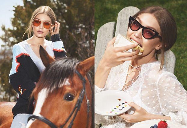Gigi Hadid na koniu promuje okulary