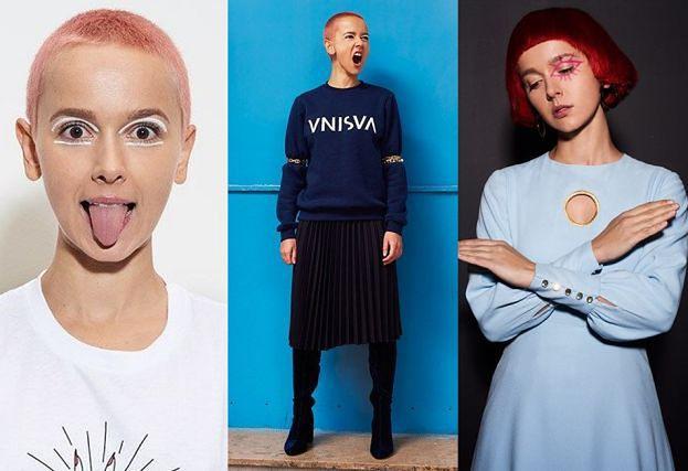Język Moniki Brodki reklamuje ubrania