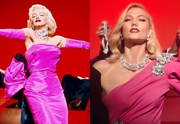Karlie Kloss jako Marilyn Monroe w reklamie biżuterii