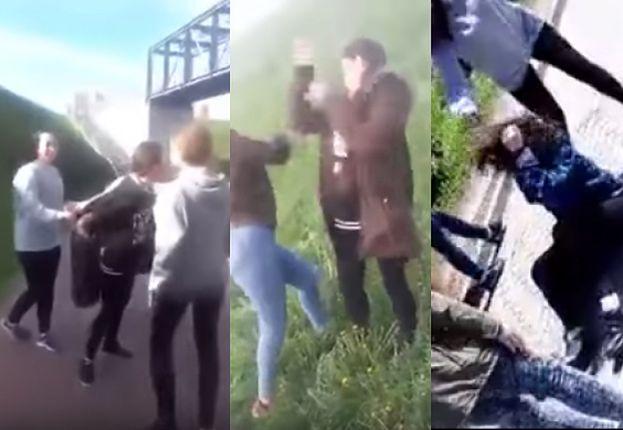 """Nowe nagranie agresywnych gimnazjalistek z Gdańska! """"Przepraszaj na kolanach! Co ty ku*wa możesz?"""" (WIDEO)"""
