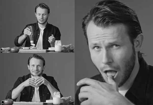 """Mateusz Banasiuk uczy seksu na przykładzie... robienia kanapki: """"Nie chcemy żeby wyszedł fast food"""""""